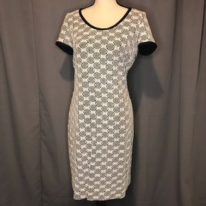 Etcetera Dress with Lacey Overlay